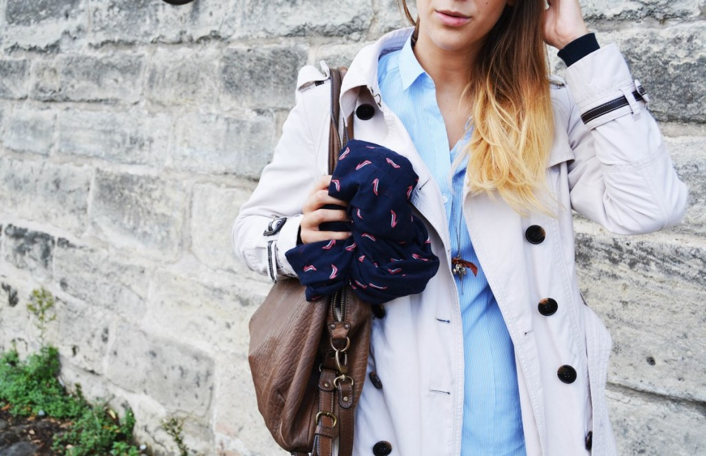 look mode automne trench paris