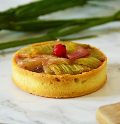 Tarte rhubarbe – fruits rouges