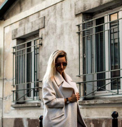 Mon blanc manteau – style oversize