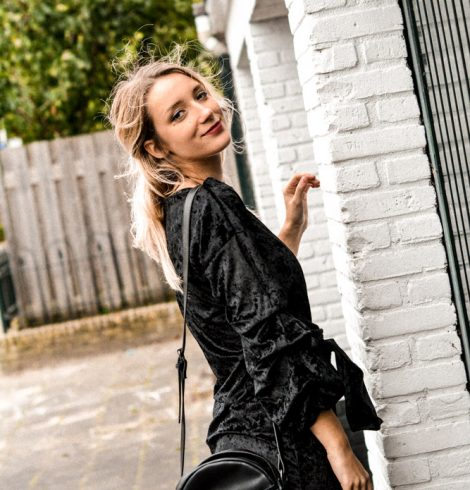 La petite robe noire en velours